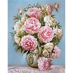 DIAMOND PAINTING KIT PUFF PEONIES WD001