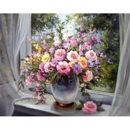 DIAMOND PAINTING KIT WINDOW BOUQUET WD006
