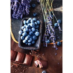 DIAMOND PAINTING KIT CHOCOLATE AND BLUEBERRIES WD046