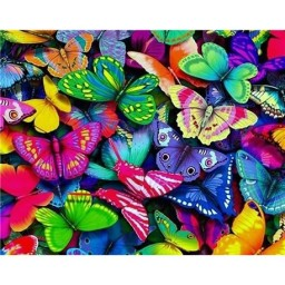 DIAMOND PAINTING KIT RAINBOW BUTTERFLIES WD057
