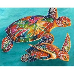 DIAMOND PAINTING KIT SEA TURTLES WD064
