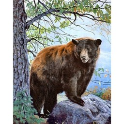 DIAMOND PAINTING KIT BROWN BEAR WD083 Pre-order only