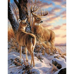DIAMOND PAINTING KIT DEER IN WINTER WD085