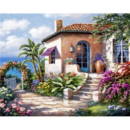 DIAMOND PAINTING KIT HOUSE BY THE SEA WD089