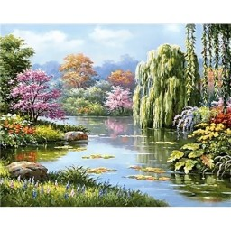 DIAMOND PAINTING KIT LAKE VIEW WD090