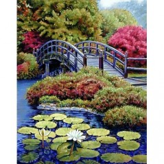 DIAMOND PAINTING KIT JAPANESE GARDEN WD096