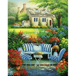 DIAMOND PAINTING KIT FLOWER GARDEN WD097