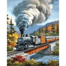 DIAMOND PAINTING KIT TRAVELLING BY TRAIN WD098