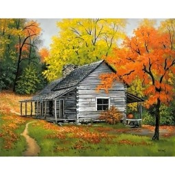 DIAMOND PAINTING KIT HOUSE IN THE WOODS WD101