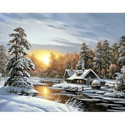 DIAMOND PAINTING KIT WINTER SUNRISE WD105