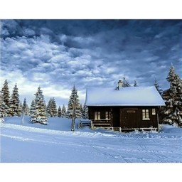 DIAMOND PAINTING KIT VALLEY OF SNOW WD106