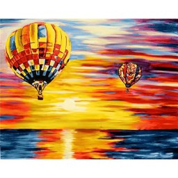 DIAMOND PAINTING KIT AIR BALLOONS WD113  Pre-order only
