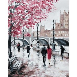 DIAMOND PAINTING KIT CITY BRIDGE WD127