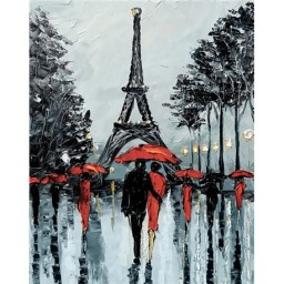 DIAMOND PAINTING KIT PARIS IN RAIN WD156
