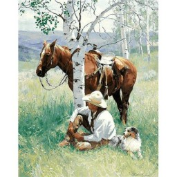DIAMOND PAINTING KIT HUNTER AT REST WD159