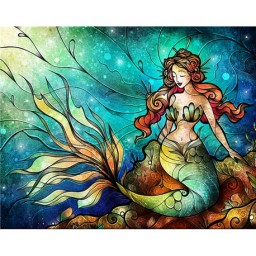 DIAMOND PAINTING KIT MERMAID WD165