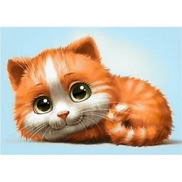 DIAMOND PAINTING KIT GINGER CAT WD194
