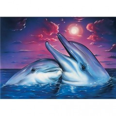DIAMOND PAINTING KIT DOLPHINS WD223
