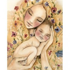 DIAMOND PAINTING KIT MOTHER'S WARMTH WD2317