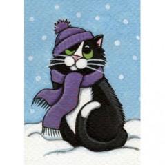 DIAMOND PAINTING KIT WINTER CAT WD2321
