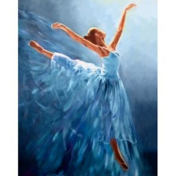 DIAMOND PAINTING KIT BLUE BALLERINA WD2343 Pre-order only