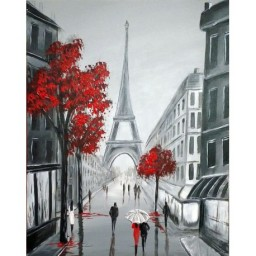 DIAMOND PAINTING KIT PARIS SKETCHES WD2344