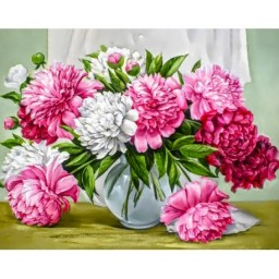 DIAMOND PAINTING KIT VIBRANT PEONIES WD2352