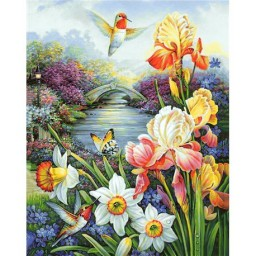 DIAMOND PAINTING KIT HUMMINGBIRD WD236