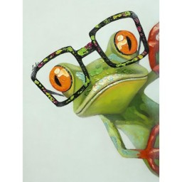 DIAMOND PAINTING KIT FROG WITH GLASSES WD2362