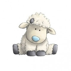 DIAMOND PAINTING KIT LITTLE SHEEP WD2370