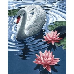 DIAMOND PAINTING KIT PRINCESS SWAN WD241
