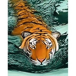 DIAMOND PAINTING KIT TIGER WATERS WD2413