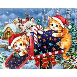 DIAMOND PAINTING KIT CHRISTMAS MAILBOX WD2423