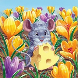 DIAMOND PAINTING KIT HARVEST MOUSE WD2452
