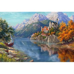 DIAMOND PAINTING KIT CASTLE IN THE MOUNTAINS WD2461 Pre-order