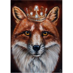 DIAMOND PAINTING KIT FOX KING WD2467 Pre-order