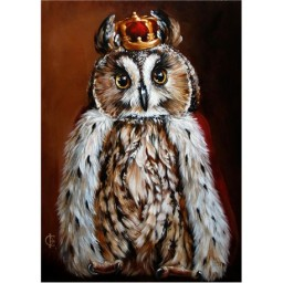DIAMOND PAINTING KIT OWL KING WD2468 Pre-order only