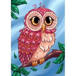 DIAMOND PAINTING KIT COLOURFUL OWL WD2491 Pre-order