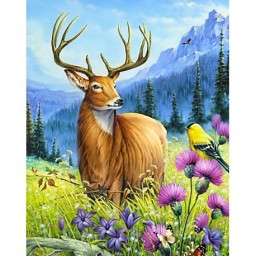 DIAMOND PAINTING KIT NOBLE DEER WD2496