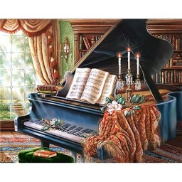 DIAMOND PAINTING KIT OLD PIANO WD253