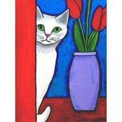 DIAMOND PAINTING KIT WHITE CAT WD283