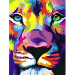 DIAMOND PAINTING KIT LION'S LOOK WD288