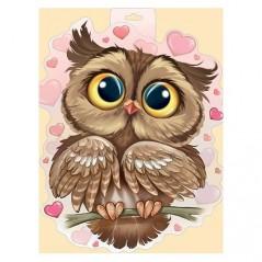 DIAMOND PAINTING KIT OWL IN LOVE WD296
