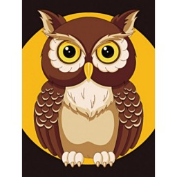DIAMOND PAINTING KIT REX NIGHT OWL WD308