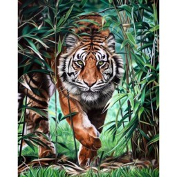 DIAMOND PAINTING KIT DANGEROUS TIGER WD310
