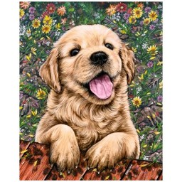 DIAMOND PAINTING KIT CUTE PUPPY WD312