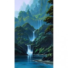 DIAMOND PAINTING KIT MOUNTAIN WATERFALL WD314