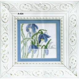 Cross stitch kit Blue flowers A-024