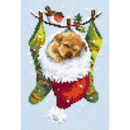 Cross Stitch Kit Christmas dreams (dog) art. 19-28