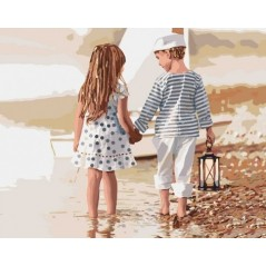 PAINT BY NUMBERS KIT Friendship 40 x 50 cm КНО2328 Framed